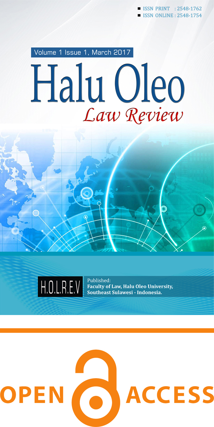 Halu Oleo Law Review