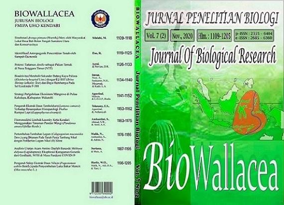 Layout Jurnal BioWallacea Vol.6 (2) November 2019